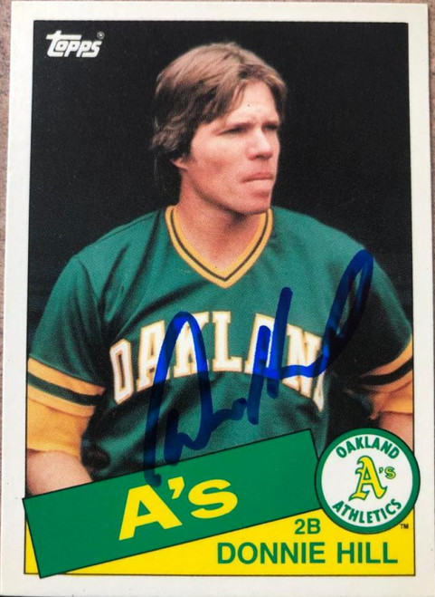 Donnie Hill Autographed 1985 Topps Traded #54T