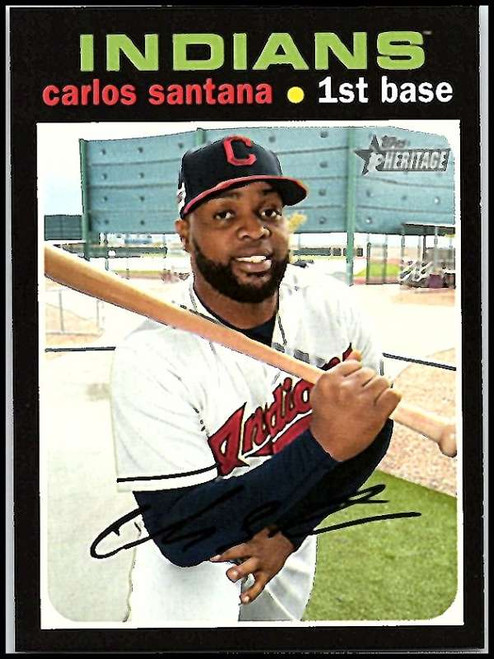 2020 Topps Heritage #56 Carlos Santana NM-MT Cleveland Indians