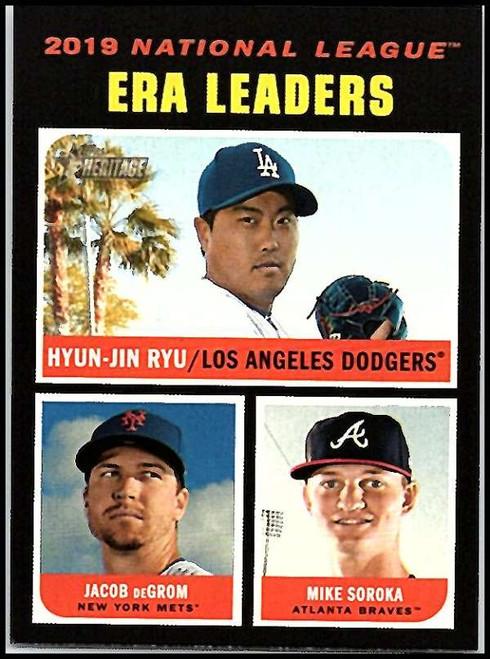 2020 Topps Heritage #68 Mike Soroka/Jacob deGrom/Hyun-Jin Ryu NM-MT Atlanta Braves/New York Mets/Los Angeles Dodgers