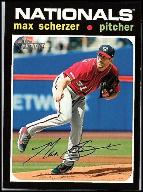 2020 Topps Heritage #82 Max Scherzer NM-MT Washington Nationals