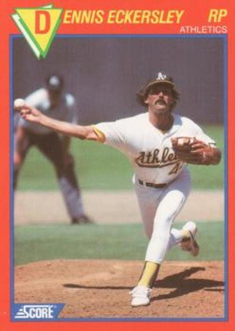 1989 Score Baseball's 100 Hottest Players #16 Dennis Eckersley NM-MT Oakland Athletics