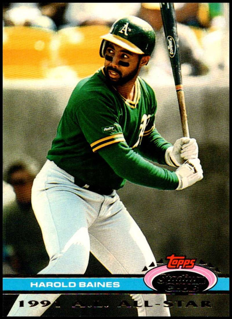 1992 Stadium Club Dome #10 Harold Baines VG Oakland Athletics