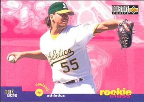 1995 Collector's Choice #18 Mark Acre VG Oakland Athletics