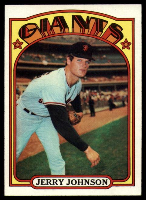 1972 Topps #35 Jerry Johnson VG San Francisco Giants