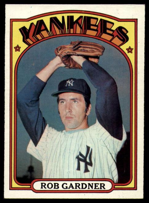 1972 Topps #22 Rob Gardner VG New York Yankees