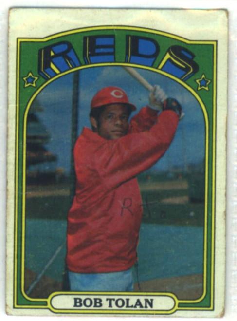 1972 Topps #3 Bob Tolan VG Cincinnati Reds