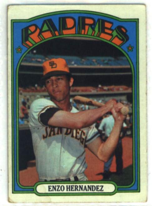 1972 Topps #7 Enzo Hernandez VG San Diego Padres