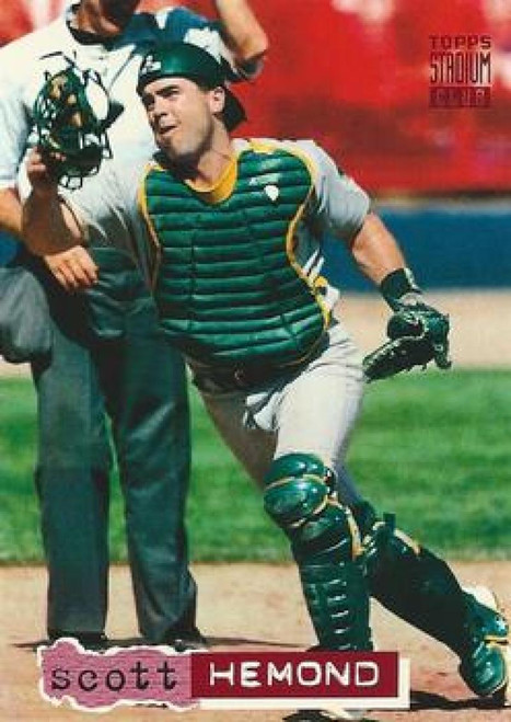 1994 Stadium Club #12 Scott Hemond VG Oakland Athletics