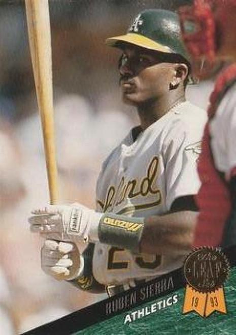 1993 Leaf #29 Ruben Sierra VG Oakland Athletics
