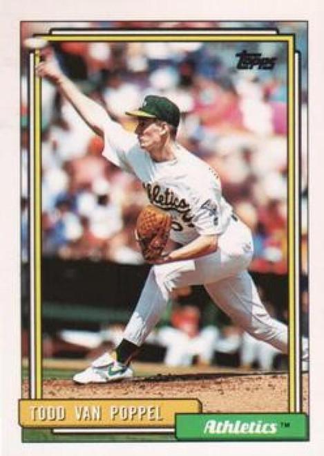 1992 Topps #142 Todd Van Poppel VG Oakland Athletics