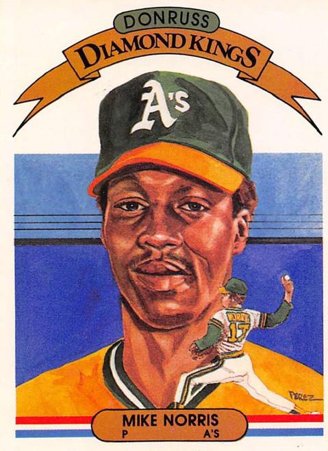1982 Donruss #19 Mike Norris DK VG Oakland Athletics