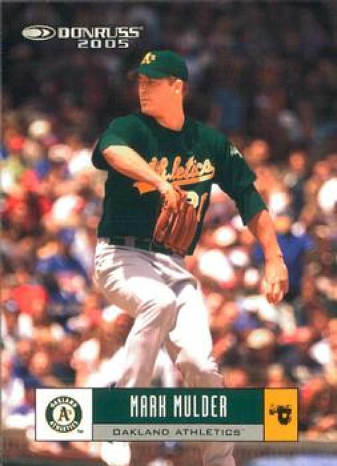 2005 Donruss #18 Mark Mulder VG Oakland Athletics