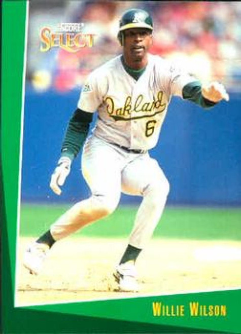 1993 Select #395 Willie Wilson VG Oakland Athletics