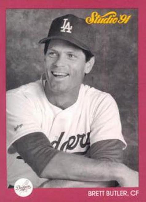 1991 Studio #181 Brett Butler NM-MT  Los Angeles Dodgers