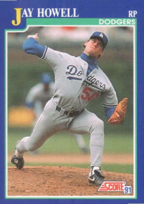 1991 Score #29 Jay Howell VG Los Angeles Dodgers