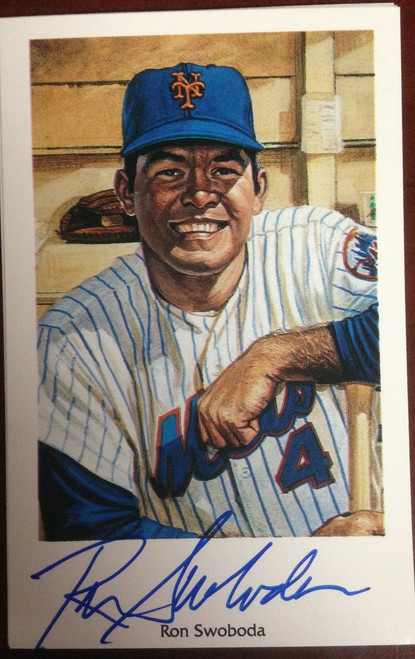 Ron Swoboda Autographed 1994 Capitol Cards 69 Mets Postcard