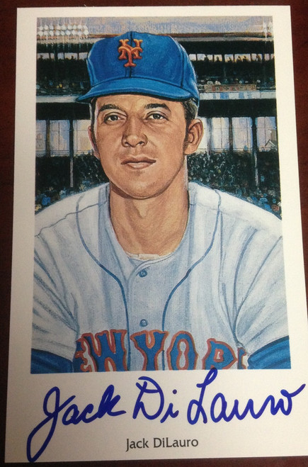 Jack DiLauro Autographed 1994 Capitol Cards 69 Mets Postcard