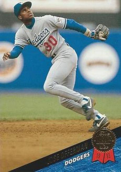 1993 Leaf #17 Jose Offerman VG Los Angeles Dodgers