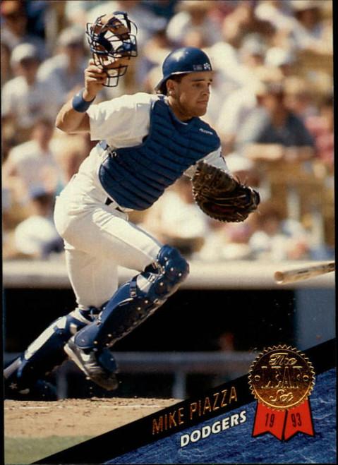 1993 Leaf #35 Mike Piazza VG Los Angeles Dodgers