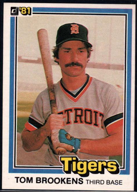 1981 Donruss #6 Tom Brookens NM-MT Detroit Tigers