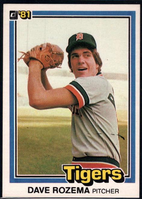 1981 Donruss #9 Dave Rozema NM-MT Detroit Tigers