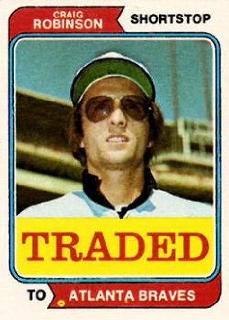 1974 Topps Traded #23T Craig Robinson VG Atlanta Braves