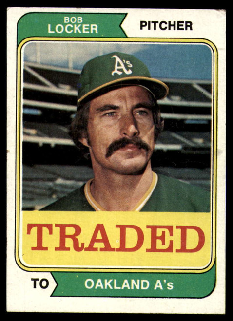1974 Topps Traded #62T Bob Locker VG Oakland Athletics