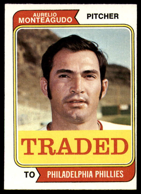 1974 Topps Traded #139T Aurelio Monteagudo VG Philadelphia Phillies
