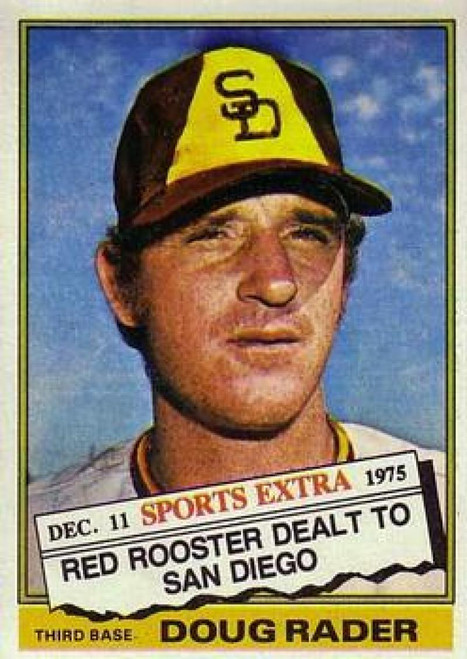 1976 Topps Traded #44T Doug Rader VG San Diego Padres