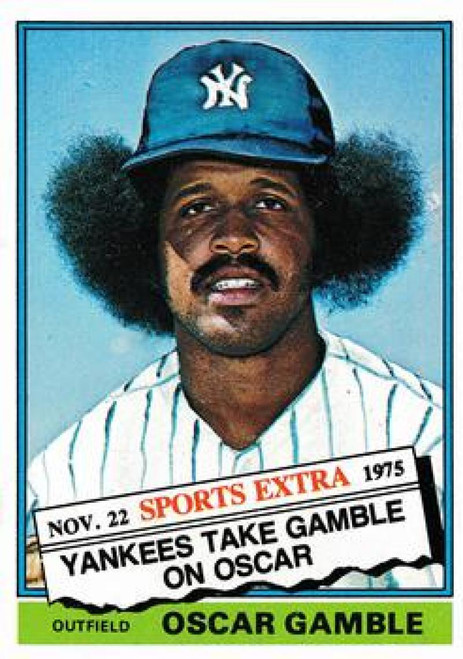 SOLD 94019 1976 Topps Traded #74T Oscar Gamble VG New York Yankees