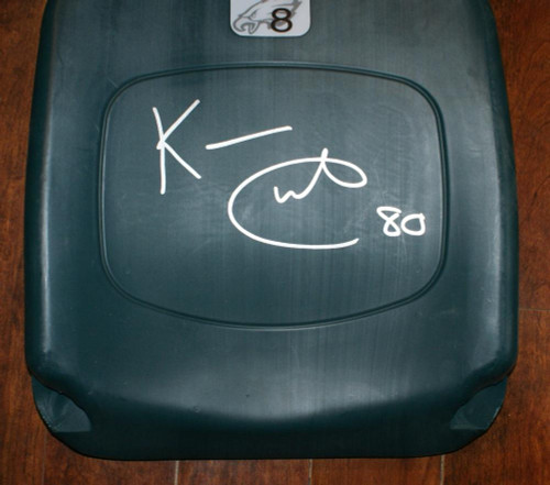 Kevin Curtis Philadelphia Eagles Autographed Lincoln Financial Field Seatback