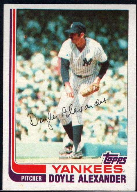 1982 Topps Traded #1T Doyle Alexander VG New York Yankees