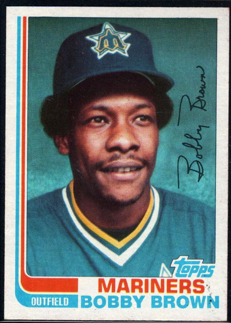 1982 Topps Traded #12T Bobby Brown VG Seattle Mariners