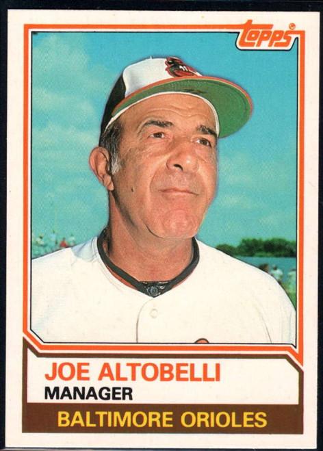 1983 Topps Traded #3T Joe Altobelli MG VG Baltimore Orioles