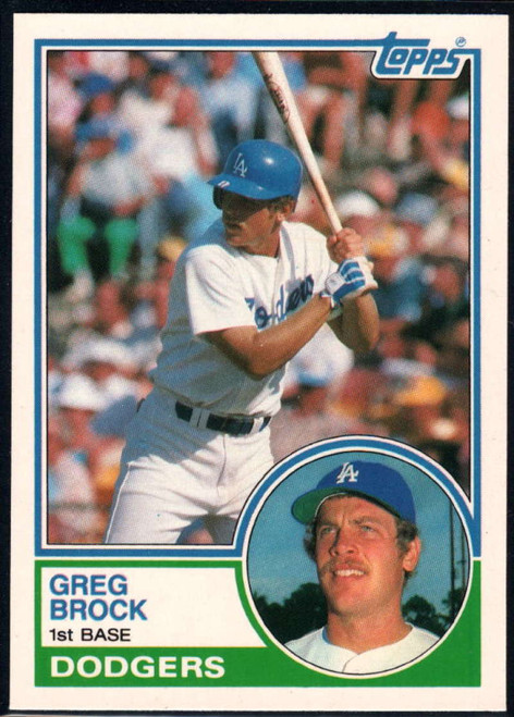 1983 Topps Traded #14T Greg Brock VG RC Rookie Los Angeles Dodgers