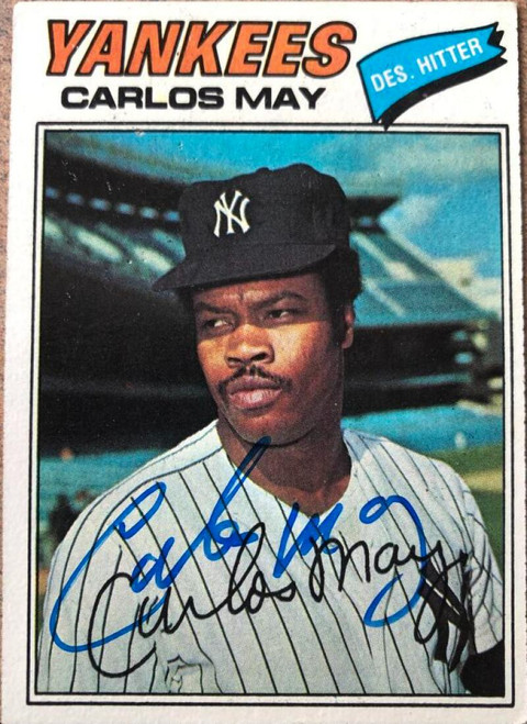 Carlos May Autographed 1977 Topps #568
