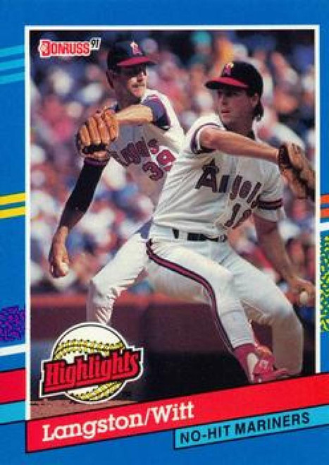 1991 Donruss Bonus Cards #BC1 Mark Langston/Mike Witt VG California Angels