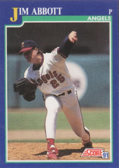 1991 Score #105 Jim Abbott VG California Angels