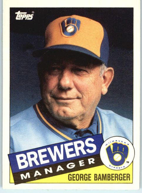 1985 Topps Traded #5T George Bamberger MG NM-MT Milwaukee Brewers