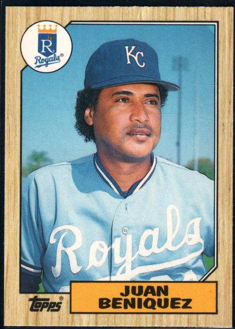 1987 Topps Traded #4T Juan Beniquez NM-MT Kansas City Royals