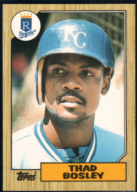 1987 Topps Traded #7T Thad Bosley NM-MT Kansas City Royals