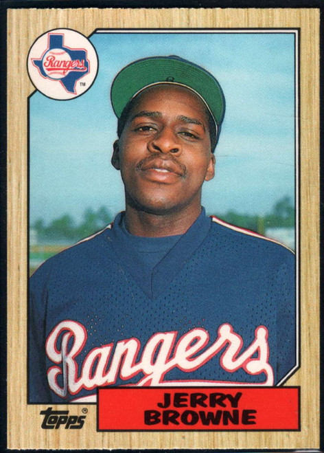 1987 Topps Traded #11T Jerry Browne NM-MT RC Rookie Texas Rangers