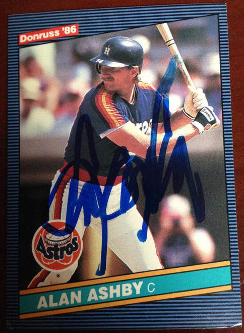 Alan Ashby Autographed 1986 Donruss #405