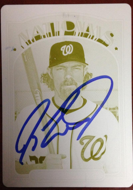 Jayson Werth Autographed 2013 Topps Archives #26 1/1 Only one in the World