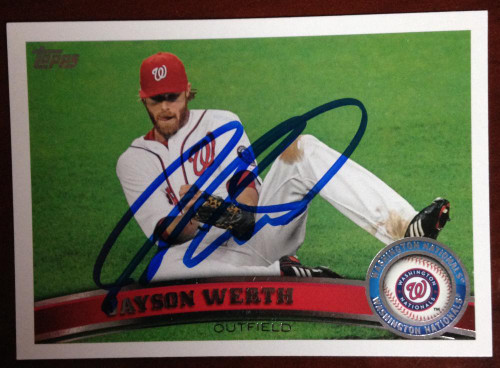 Jayson Werth Autographed 2011 Topps Update #US210