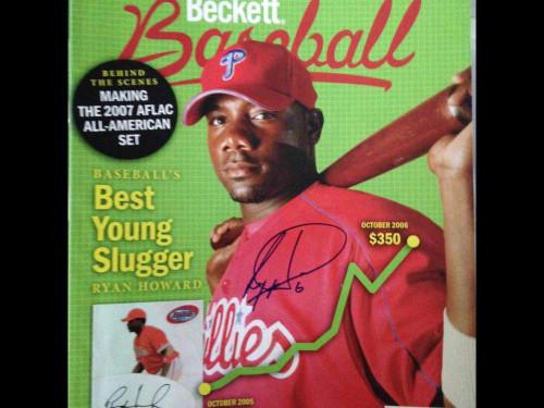 Ryan Howard Autographed October 2006 Beckett Baseball Magazine