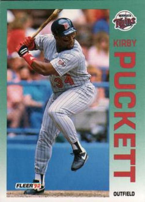 1992 Fleer #217 Kirby Puckett VG Minnesota Twins