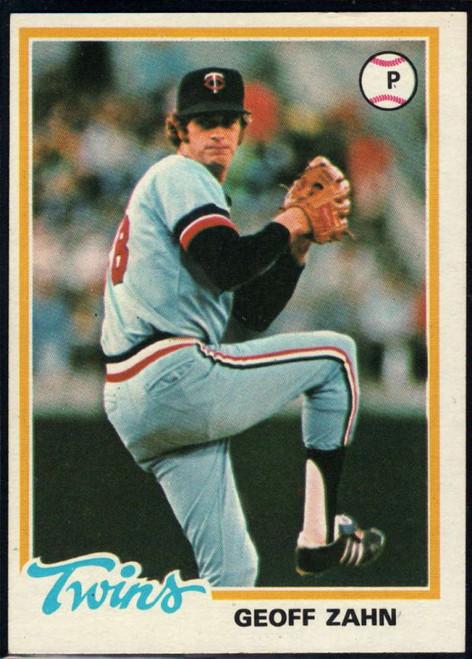 1978 Topps #27 Geoff Zahn COND Minnesota Twins