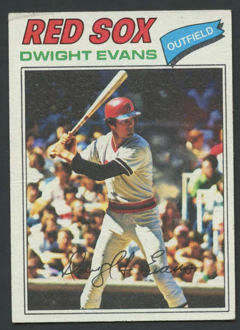 1977 Topps #25 Dwight Evans VG Boston Red Sox