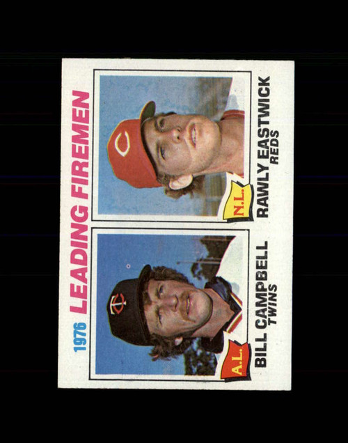 1977 Topps #8 Bill Campbell/Rawly Eastwick Saves Leaders VG Minnesota Twins/Cincinnati Reds